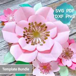paper flowertemplate bundle