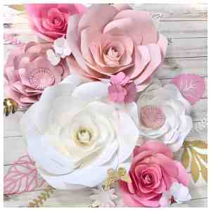 large paper roses