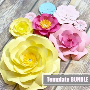Wall Paper Flower Templates