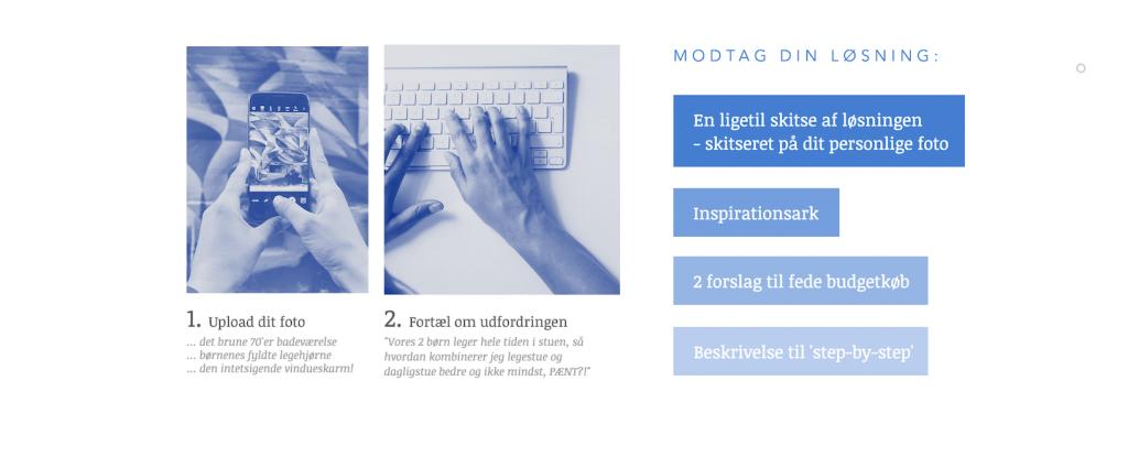 Pretotyping hjemmeside 2. eksempel