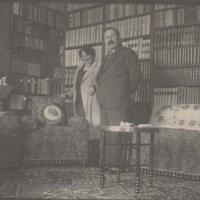 Martin & Giuseppina Ivanaj in their library Tirana 1935
