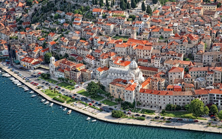 The beautiful Croatian city of Šibenik