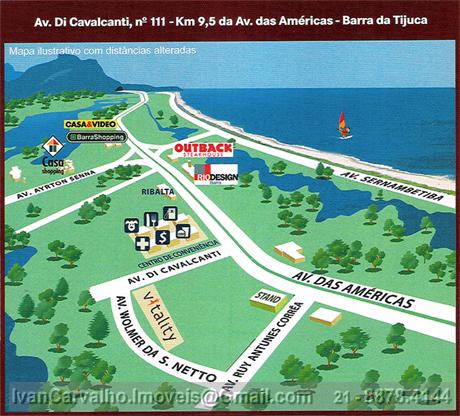 Mapa ilustrativo da localização