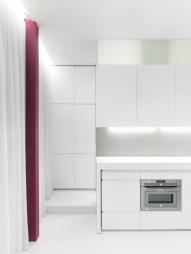 Detalle almacenaje. Diseño interior de mini-apartamento en Madrid