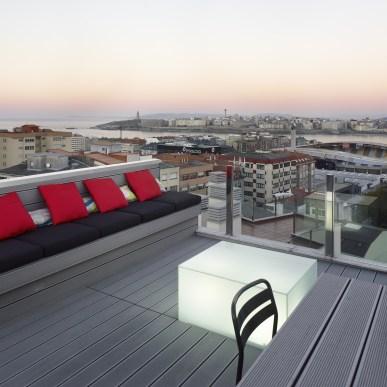Diseño de apartamento con terraza en A Coruña
