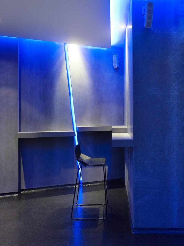 Detalles iluminación en La Fragua de Vulcano Lounge & Bar