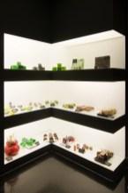 Exposición de jabones artesanales con llamativos colores y olores
