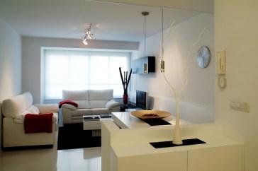 Diseño interior de piso en Galicia. Vista salón comedor
