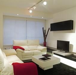 Diseño interior de piso en Galicia. Vista salón