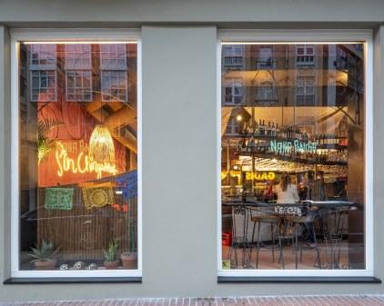 Una de las fachadas de Nana Pancha, restaurante mexicano en A Coruña-Galicia