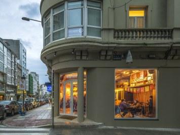 Vista exterior de Nana Pancha, restaurante mexicano en A Coruña-Galicia