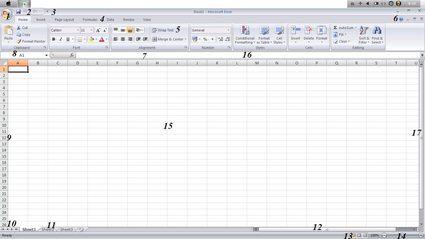 Bagian Bagian Microsoft Excel Dan Fungsinya
