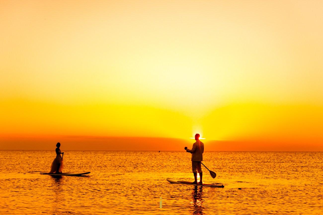 le lever du soleil en paddle