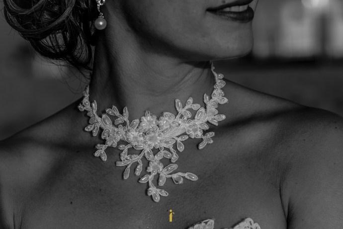 le cou de la mariée