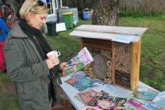 Kerry Inspects the Insect Hotel