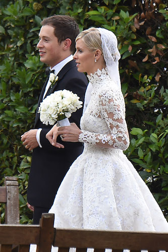 Nicky Hilton and James Rothschild's wedding at Orangery in Kensington Palace on July 10, 2015 in London, United Kingdom.  Pictured: Nicky Hilton and James Rothschild Ref: SPL1075591  100715   Picture by: Splash News Splash News and Pictures Los Angeles:	310-821-2666 New York:	212-619-2666 London:	870-934-2666 photodesk@splashnews.com