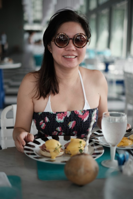 A happy wife at brekky. X-Pro2 + XF35mm