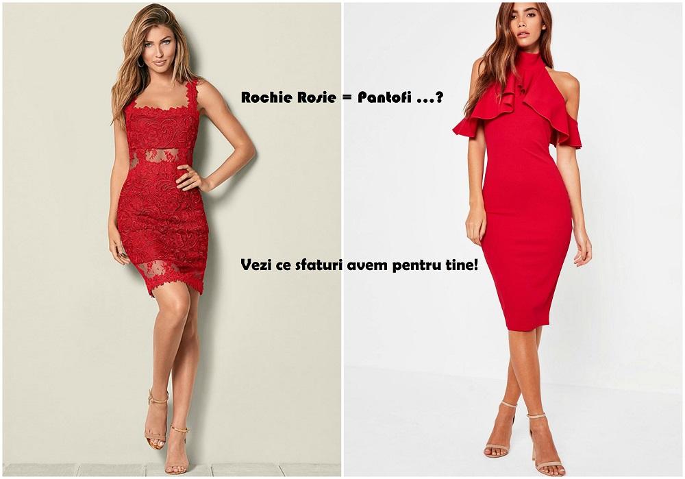 Ce accesorii si pantofi se potrivesc cel mai bine cu o rochie rosie?