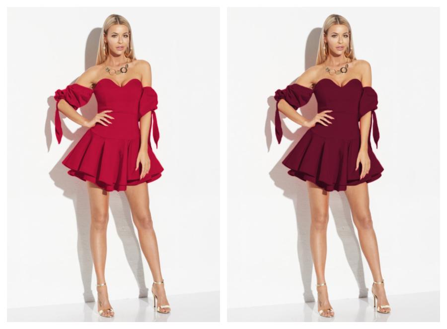 modele-rochii-de-seara-scurte-elegante-de-seara-rosii-grena