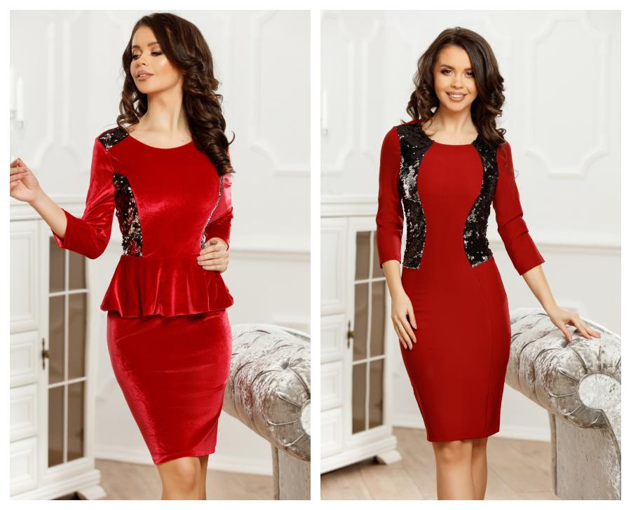 modele-rochii-rosii-catifea-elegante-de-seara