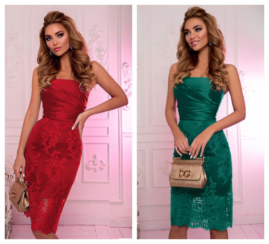 rochii-midi-scurte-rosii-verzi-super-elegante