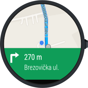 Android wear google maps