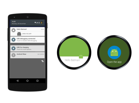 Android wear notification example