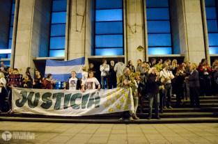 PROTESTA POR LA NSEGURIDAD Y JUSTICIA,  frente a TRIBUNALES 