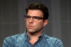 "BEVERLY HILLS, CA - JULY 11: Co-Executive Producer Zachary Quinto speaks onstage at the ""The Chair"" panel during the Starz portion of the 2014 Summer Television Critics Association at The Beverly Hilton Hotel on July 11, 2014 in Beverly Hills, California. (Photo by Frederick M. Brown/Getty Images)"