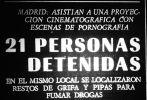 Titular de la noticia del diario Arriba, publicada el domingo 24 de octubre de 1971.