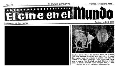 Texto promocional en Mundo Deportivo (2 de febrero de 1970)