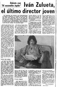 Entrevista de Juby Bustamante a Iván Zulueta