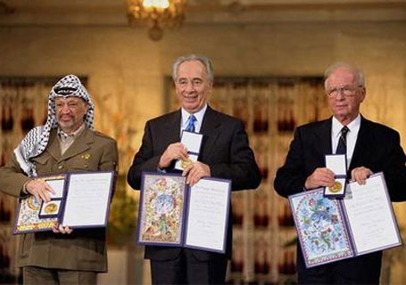 A total deception. A terrorist leader crowned with the Nobel peace price