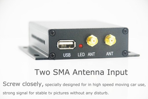 Car DVB-T TV receiver box diversity 2 antenna MPEG4 H.264 STB dvb-t7200 3