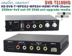 DVB-T2100HD Car DVB-T MPEG4 H.264 tv receiver with 2 tuner PVR USB Record 6