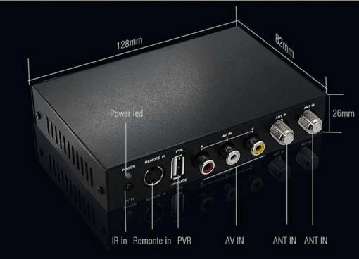 DVB-T2100HD Car DVB-T MPEG4 H.264 tv receiver with 2 tuner PVR USB Record 4