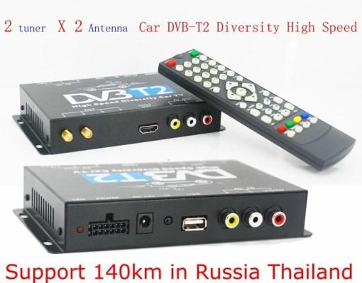 2 antenna car DVB-T2 Two tuner tv Diversity USB HDMI HDTV High Speed dvb-t22 1