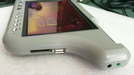7 inch sun visor DVD player sunvisor left right side USB SD movie player black grey beige factory promotion TM-6686 7010 10