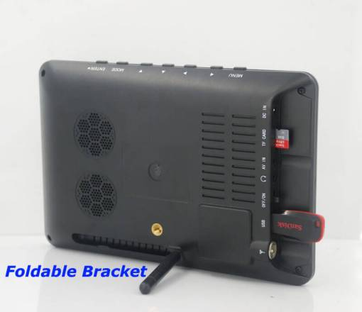 7 inch ISDB-T Digital ISDBT TV HD MPEG4 FULL SEG Analog TV USB TF MP5 player AV input Rechargeable Battery 6