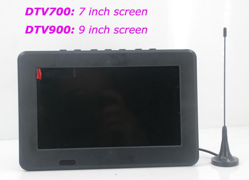 7 DVB-T2 7 inch Digital TV monitor Analog TV USB TF MP5 player AV in Rechargeable Battery 19
