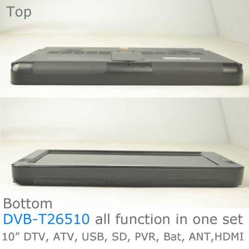 10 DVB-T2 H265 HEVC AC3 Codec Portable TV PVR Multimedia Player Analog kitchen bedroom car DVB-T26510 4