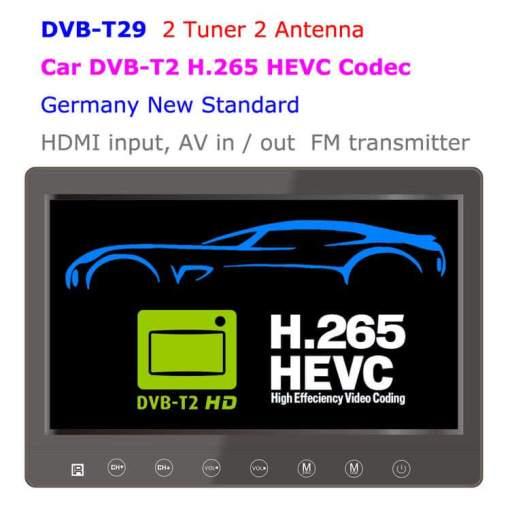 DVB-T29 9 inch portable DVB-T2 LCD TV monitor HD FTA Freenet H265 HEVC Codec 1