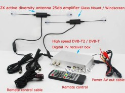 DVB-T2H Car DVB-T2 DVB-T USB HDMI HDTV tuner 2 active antenna high speed 8