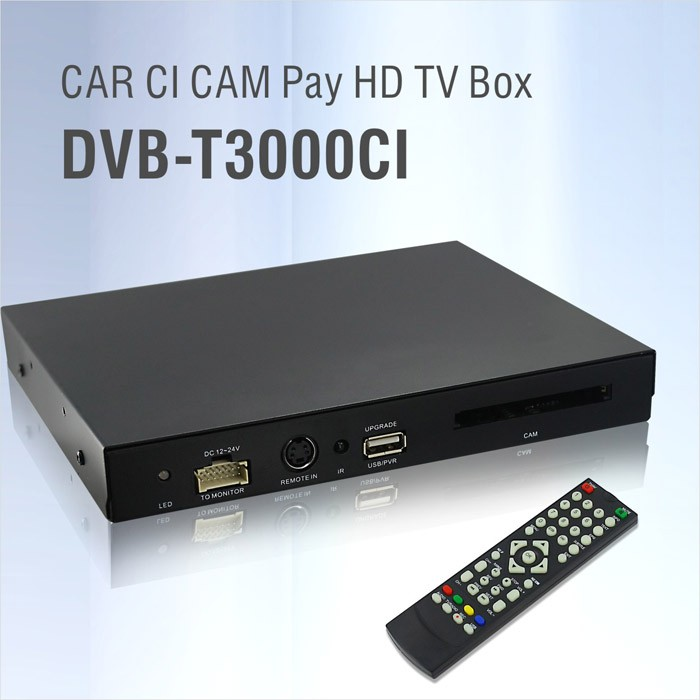 DVB-T3000CI HD Car DVB-T CI CAM card reader auto digital tv Slot DTV Europe TNT TDT CA 12