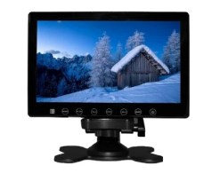 7inch in car slim monitor with digital lcd screen touch button 2 way video input parking rearview Vcan1412 5