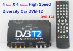 Car DVB-T2 TV Receiver 4 Tuner 4 Antenna USB HDMI HDTV Russia High Speed 8