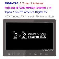 2 tuner 2 antenna 10.1 inch full seg digital TV receiver 11