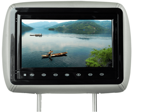 10.1 inch headrest LCD monitor with HDMI input and USB for phone charger VCAN1385 1