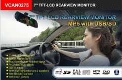 7inch Rearview Mirror Monitor Support MP5 Bluetooth 10