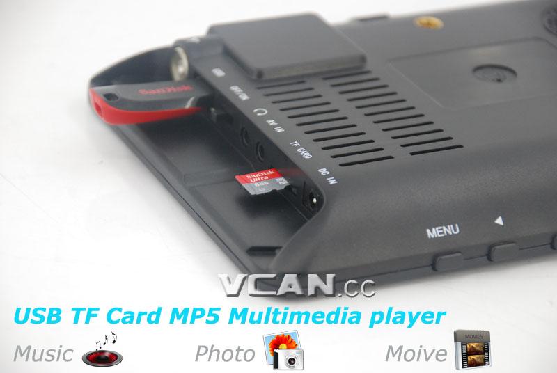 7 DVB-T2 7 inch Digital TV monitor Analog TV USB TF MP5 player AV in Rechargeable Battery 16